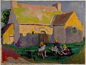 Emily Carr - Emily Carr, Breton church, oil on canvas, 1906