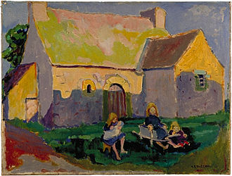Emily Carr - Emily Carr, Breton church, oil on canvas, 1906