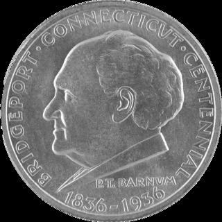 Bridgeport, Connecticut, Centennial half dollar 1936 US commemorative coin