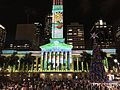 Brisbane City Hall During Christmas light show in 2016, 03.jpg