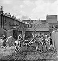 Britain's Youth Prepares- Boys Create Allotments on Bomb Sites, London, England, 1942 D8957.jpg