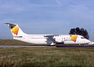 2009 Aviastar British Aerospace 146 crash - The aircraft involved in the accident while still in operation with British European Airways as G-JEBC, pictured in Paris-Charles de Gaulle Airport in 2000