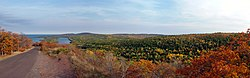 View from atop Brockway Mountain