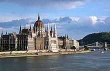 Budapešť, Maďarský parlament. Wikipedie.cs