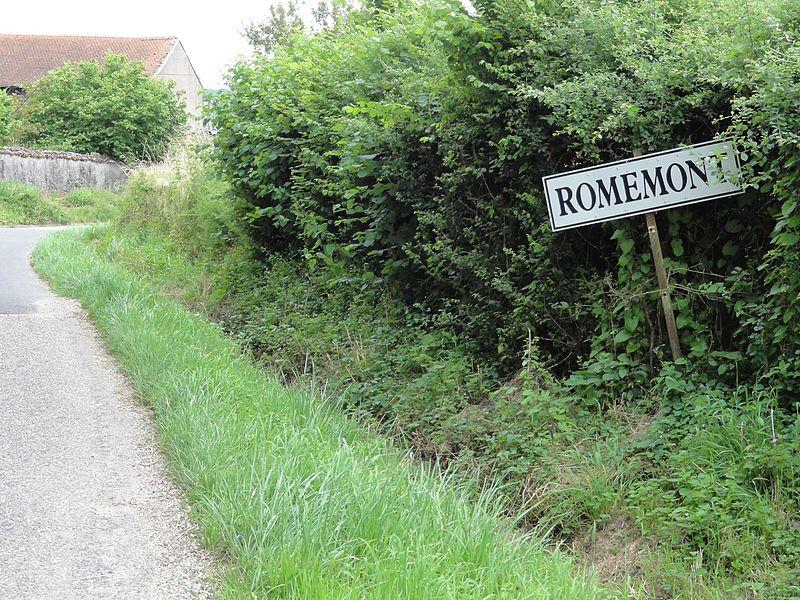 Buissoncourt (m-et-M) city limit sign Romemont