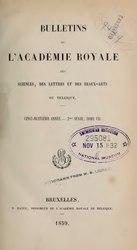 Bulletins de l'Académie royale de Belgique