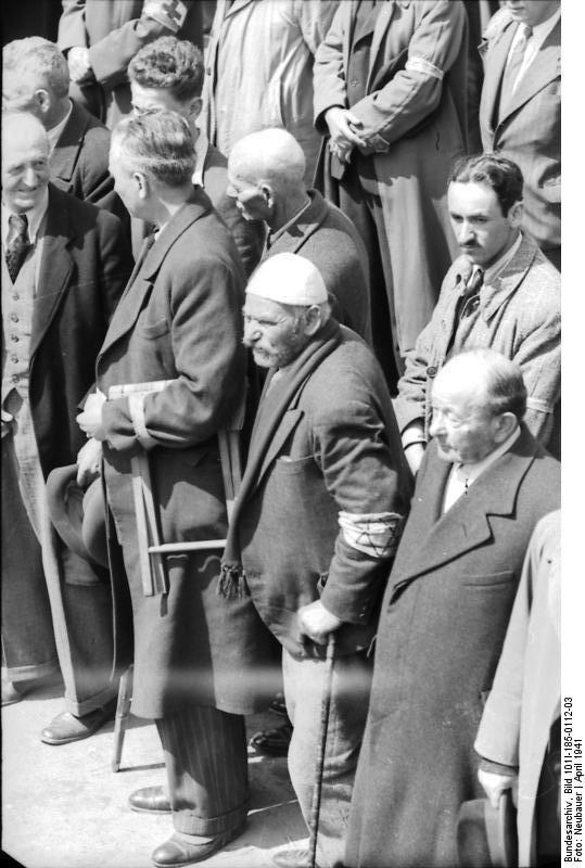 Bundesarchiv Bild 101I-185-0112-03, Belgrad, Erfassung von Juden