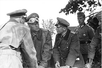 Georg-Hans Reinhardt - Georg-Hans Reinhardt (2nd from left) and Walter Krüger, 1941