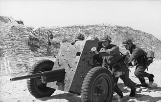 3.7 cm Pak 36 - A Pak 36 in Northern France, 1944