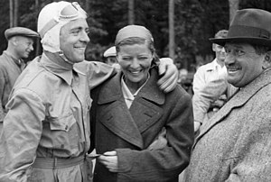 Bernd Rosemeyer - Bernd Rosemeyer (left) with Elly Beinhorn and Ferdinand Porsche