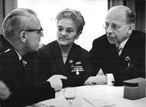 Lotte Ulbricht - Willi Stoph, Lotte Ulbricht, and Walter Ulbricht