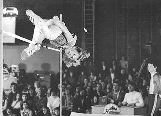 Rosemarie Ackermann - Ackermann competing at the Hochsprung mit Musik meeting, which she won in 1980.