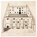 Byggnadsritning för ombyggnad av S-t Georg kyrka till tyghus och magasin, 1670-tal - Skoklosters slott - 98940.tif