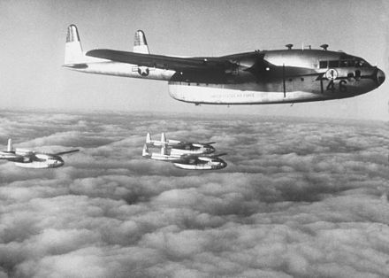 C-119 Flying Boxcars from the 403rd Troop Carrier Wing. - Fairchild C-119 Flying Boxcar