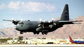 152nd Airlift Wing - 152nd Airlift Wing C-130 landing at Reno AGB