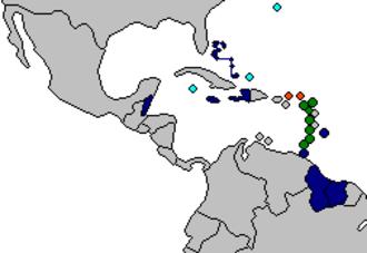 Organisation of Eastern Caribbean States - Image: CARICOM OECS Members