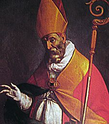 San Narno Bishop - Carlo Ceresa, a Igreja de St. John the Apostle, Villa d'Ogna, Bergamo