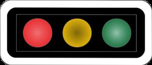 Road signs in Switzerland and Liechtenstein - Image: CH SSV Lichtsignal Art 68 Horizontale Anordnung