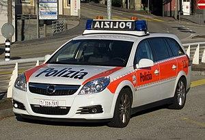 Municipal police (Switzerland) - Image: CH Policecar Locarno 20110101
