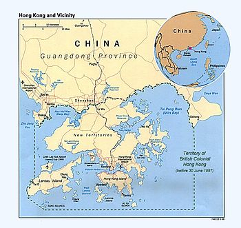 Location of colonial Hong Kong
