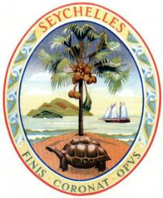 Coat of arms of Seychelles - Image: COA of Seychelles, 1961 1976
