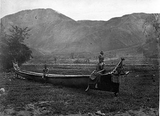 Batak - Traditional boat (circa 1870), photograph by Kristen Feilberg.