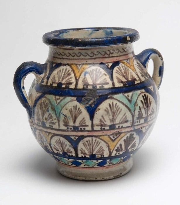 COLLECTIE TROPENMUSEUM Pot van geglazuurd aardewerk TMnr 5683-31