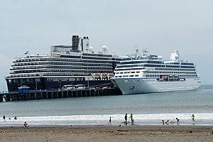 Transport in Costa Rica - Cruise ships at Puntarenas.