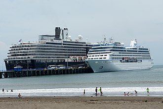 Transport in Costa Rica - Cruise ships at Puntarenas.