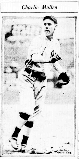 Charlie Mullen - Newspaper photo of Charlie Mullen.