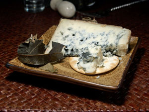 Cabrales blue Cheese with leaf wrapping