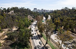 California State Route 163 - The Cabrillo Freeway leading into Downtown San Diego