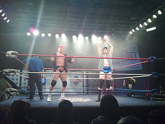 Lance Cade and Trevor Murdoch - Cade (left) and Murdoch at an NWA Championship Wrestling show.