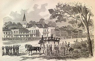 1st Louisiana Native Guard (United States) - Funeral of Andre Cailloux in New Orleans, July 29, 1863, from the August 29, 1863, edition of Harpers Weekly