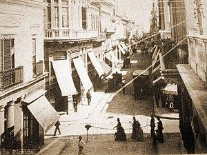 San Nicolás, Buenos Aires - A San Nicolás street in 1888. The ward retains much of its colonial grid