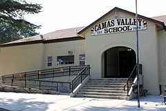 Camas Valley School entrance - Camas Valley Oregon.jpg