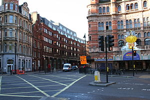 Cambridge Circus, London - Cambridge Circus and the Palace Theatre