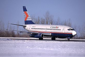 Canadian Airlines - Boeing 737-200 at Ottawa Macdonald-Cartier International Airport in 2001