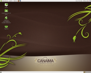 Canaima (operating system) - Desktop of Canaima Popular 2.0
