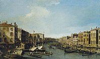 Canaletto - The Grand Canal looking south-west from the Rialto to Ca' Foscari RCIN 406890.jpg