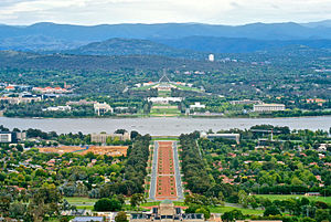 كانبرا: Canberra viewed from Mount Ainslie