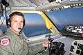 Capt. Adam Kinzinger piloting a Boeing KC-135 StratoTanker.jpg
