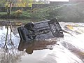 Car re-surfaces at the Camowen River - geograph.org.uk - 283528.jpg