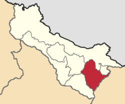 Location of MontúfarCanton, Carchi Province