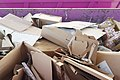 Cardboard waste collection at Piattaforma Ecologica - Legnano (MI), Lombardy, Italy - 2021-02-26.jpg