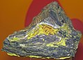 Carnotite in sandstone (Montrose County, Colorado, USA) 2 (23503939706).jpg