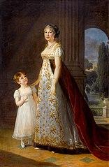 Marie-Annuciade-Caroline Bonaparte, reine de Naples, avec sa fille Laetitia-Joséphine Murat