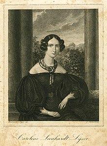 Caroline Leonhardt während ihrer Ehe mit Johann Peter Lyser (Quelle: Wikimedia)