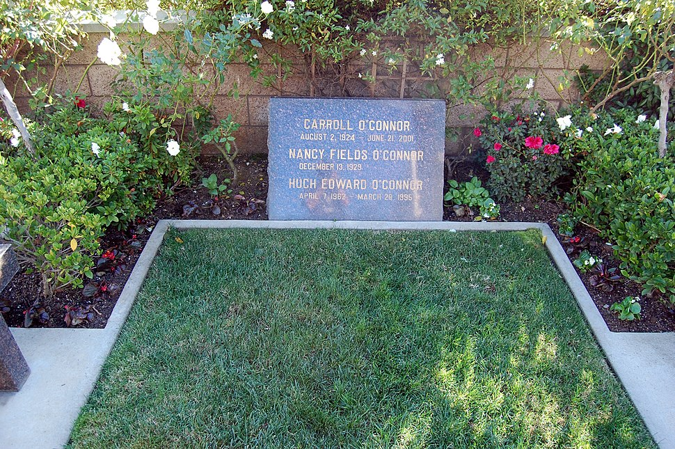 Carroll O'Connor grave at Westwood Village Memorial Park Cemetery in Brentwood, California
