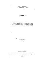 Araripe Júnior: Carta sobre a litteratura brazilica